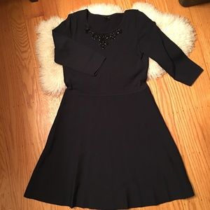 Anne Taylor black sweater dress size Large